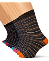 FM 12-Pack Men's Striped Socks | Comfortable, Fun Socks for Smart or Everyday Wear (Size:UK 6-11)