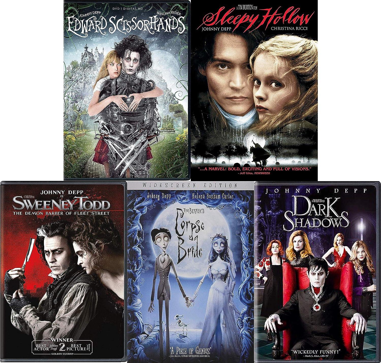 Una oración Depresión acuerdo  Amazon.com: Tim Burton and Johnny Depp: Dark and Gloomy 5 Movie DVD  Collection (Edward Scissorhands / Corpse Bride / Sweeney Todd and More): Johnny  Depp, Tim Burton: Movies & TV