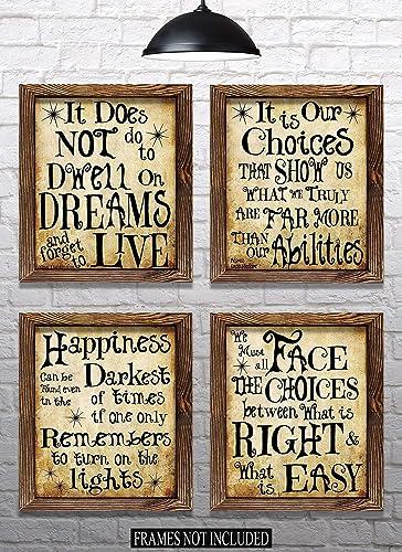Amazon Harry Potter Quotes Sayings Set Of 4 8x10 Prints