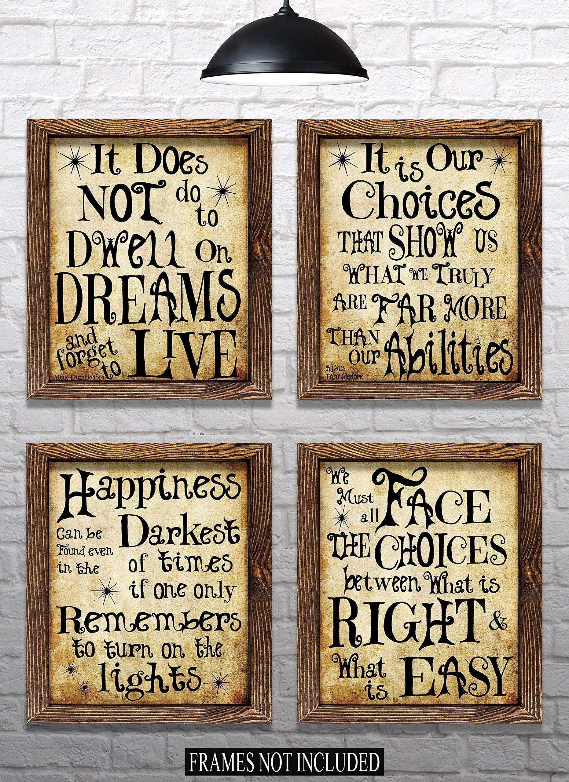 Harry Potter Quotes & Sayings - Set of 4-8''x10'' Prints - Great Harry Potter Gifts (set #1)