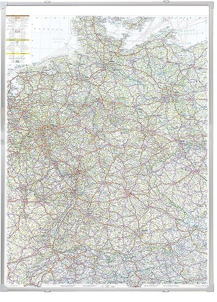 Franken Ka300d Kartentafel Strassenkarte Deutschland Magnethaftend