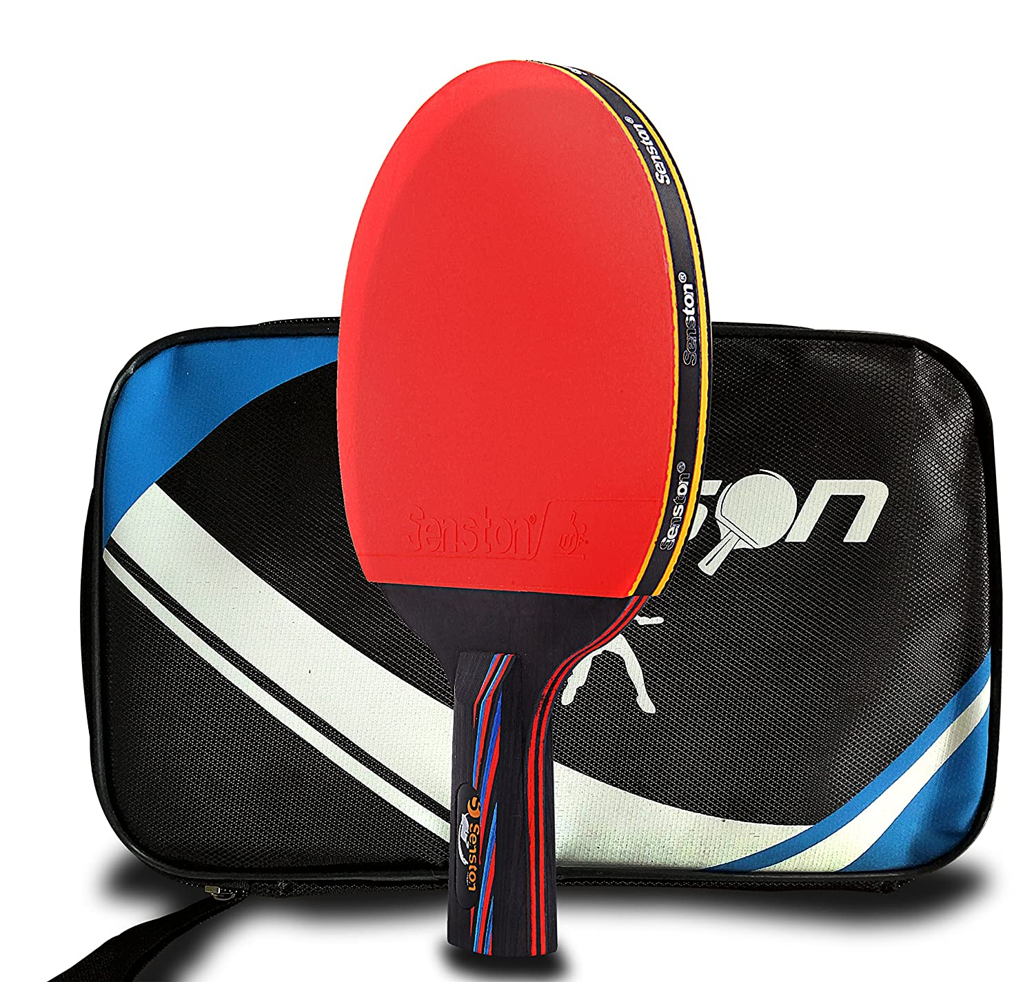 6d6b39af74 Senston table tennis racket ping pong paddle table tennis bat short hand  grip including carrying bag