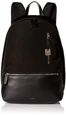 Amazon.com: Skagen Men's Kroyer Nylon and Leather Backpack, Black ...