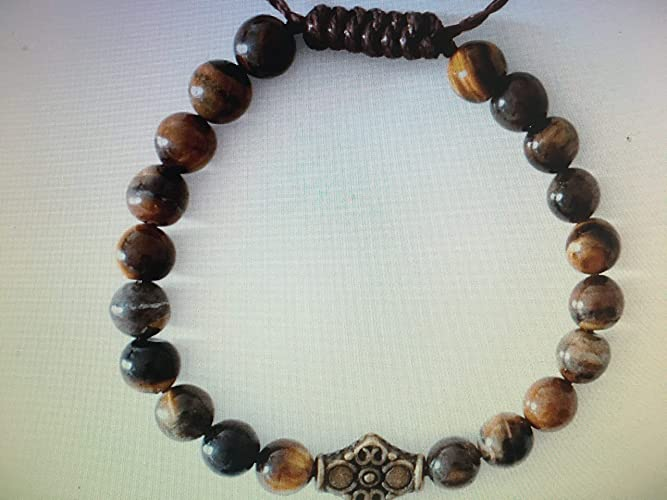 Amazon.com: Man Mala healing meditation luck bracelet ...