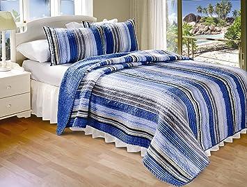 Amazon.com: Greenland Home Brisbane Quilt Set, Twin: Home & Kitchen : quilting brisbane - Adamdwight.com