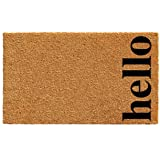 "Calloway Mills 102612436NBB Vertical Hello Doormat, 24"" x 36"", Natural/Black"