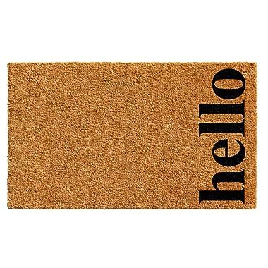 Calloway Mills 102612436NBB Vertical Hello Doormat, 24  x 36 , Natural/Black