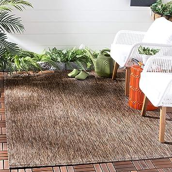 Amazon Com Safavieh Courtyard Collection Cy8522 Indoor Outdoor Non Shedding Stain Resistant Patio Backyard Area Rug 5 3 X 7 7 Brown Brown Furniture Decor