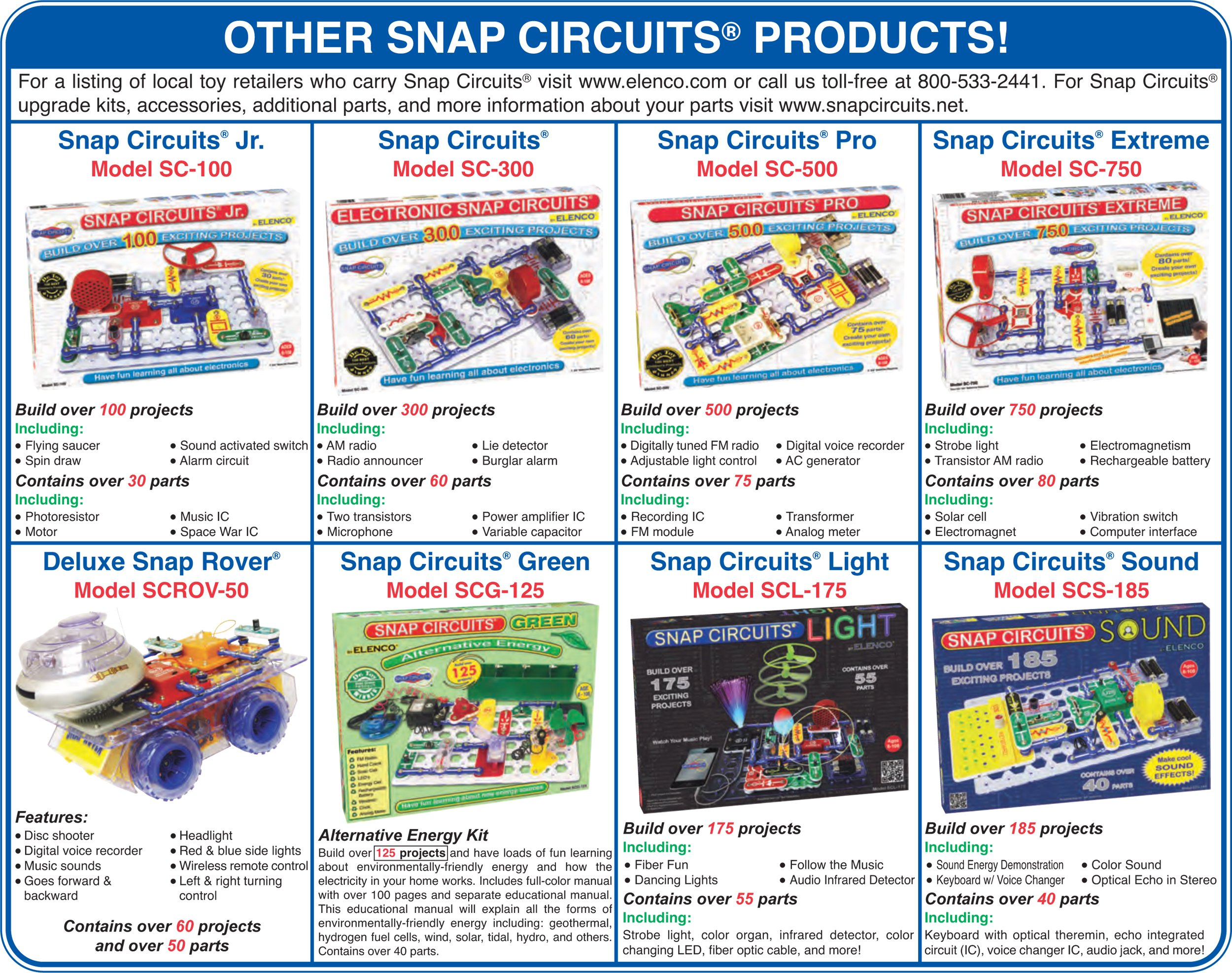Snap Circuits Motion Electronics Exploration Kit | Over 165 Exciting STEM Projects | 4-Color Project Manual | 50+ Snap Modules | Unlimited Fun by Snap Circuits (Image #8)