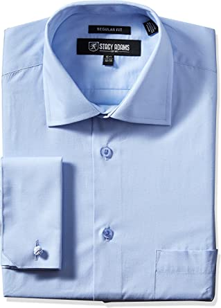 Stacy Adams Camisa de vestir de cuello ajustable hombre: Amazon.es: Ropa y accesorios