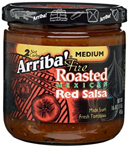 Arriba! Fire Roasted Mexican Chipotle Salsa Medium 16-Ounce (Pack of 3)