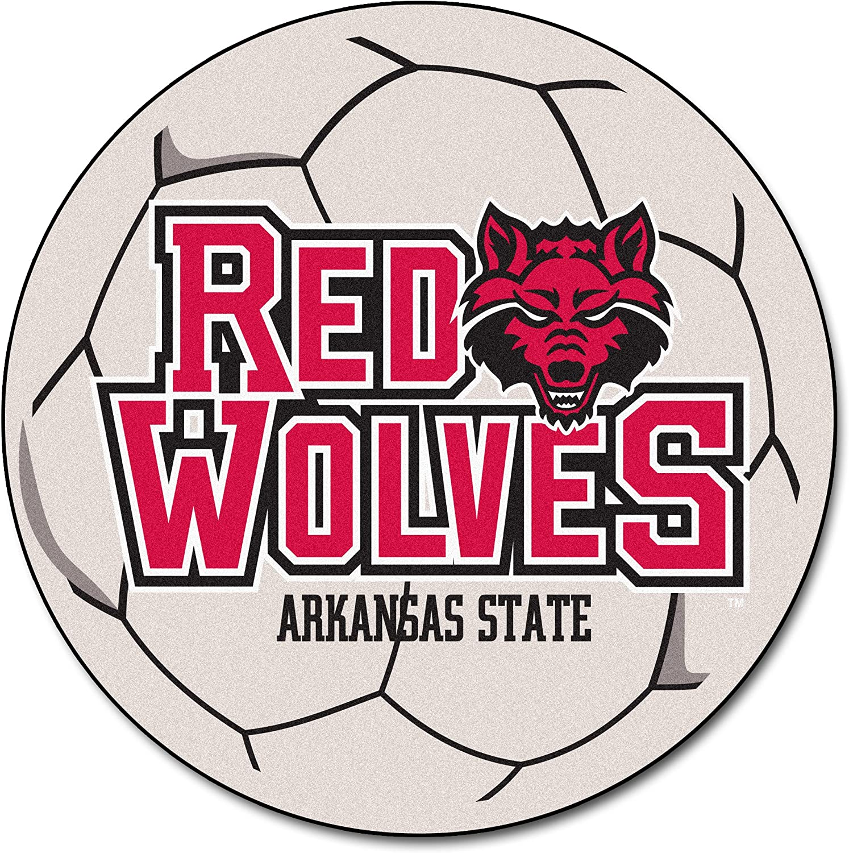 Amazon Com Arkansas State University Soccer Ball Rug Furniture Decor