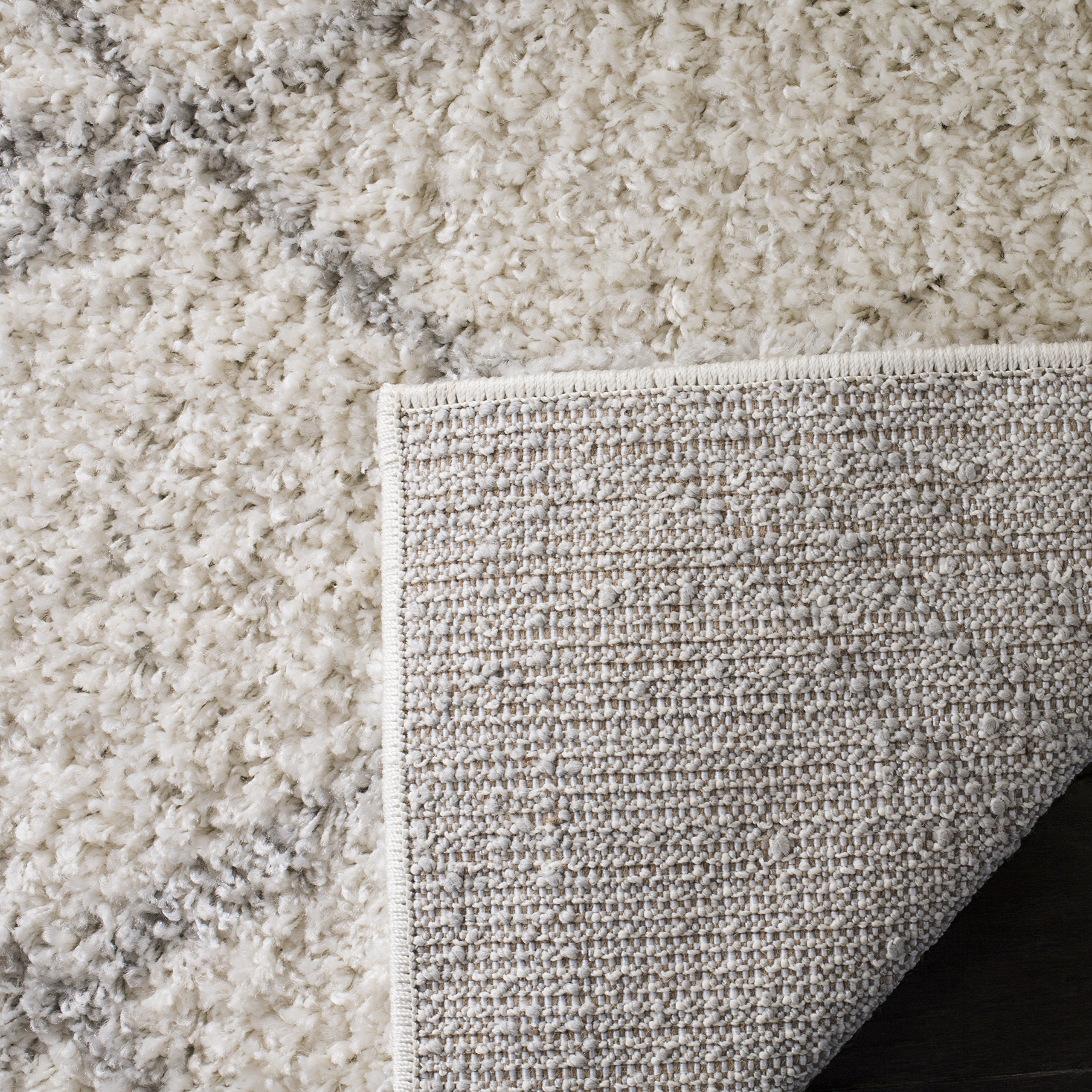 Safavieh Arizona Shag Collection ASG751G Ivory and Grey Area Rug (8' x 10') by Safavieh (Image #4)
