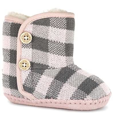 UGG Kids Baby Girl's PURL Pine (Infant/Toddler) Baby Pink Boot