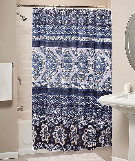Greenland Home Medina Indigo Shower Curtain