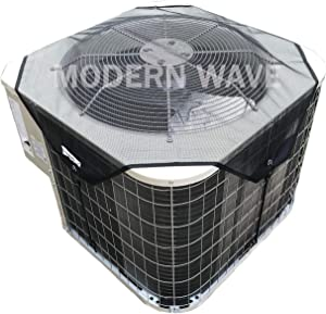 """Modern Wave Premium Heavy Duty Central Air Conditioner Cover for Outside Units - Top Summer Outdoor AC Cover Defender (Mesh, 36"""" x 36"""")"""