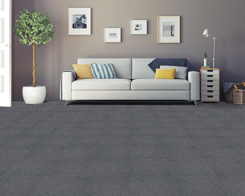 12 Tiles//12 Sq Smoke 12 Tiles//12 Sq/' Achim Home Furnishings NXCRPTSM12 Nexus 12 inch x 12 inch Self Adhesive Carpet Floor Tile