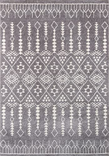 Momeni Rugs Lima Collection Contemporary Area Rug, 9 3 X 12 6 , GREY