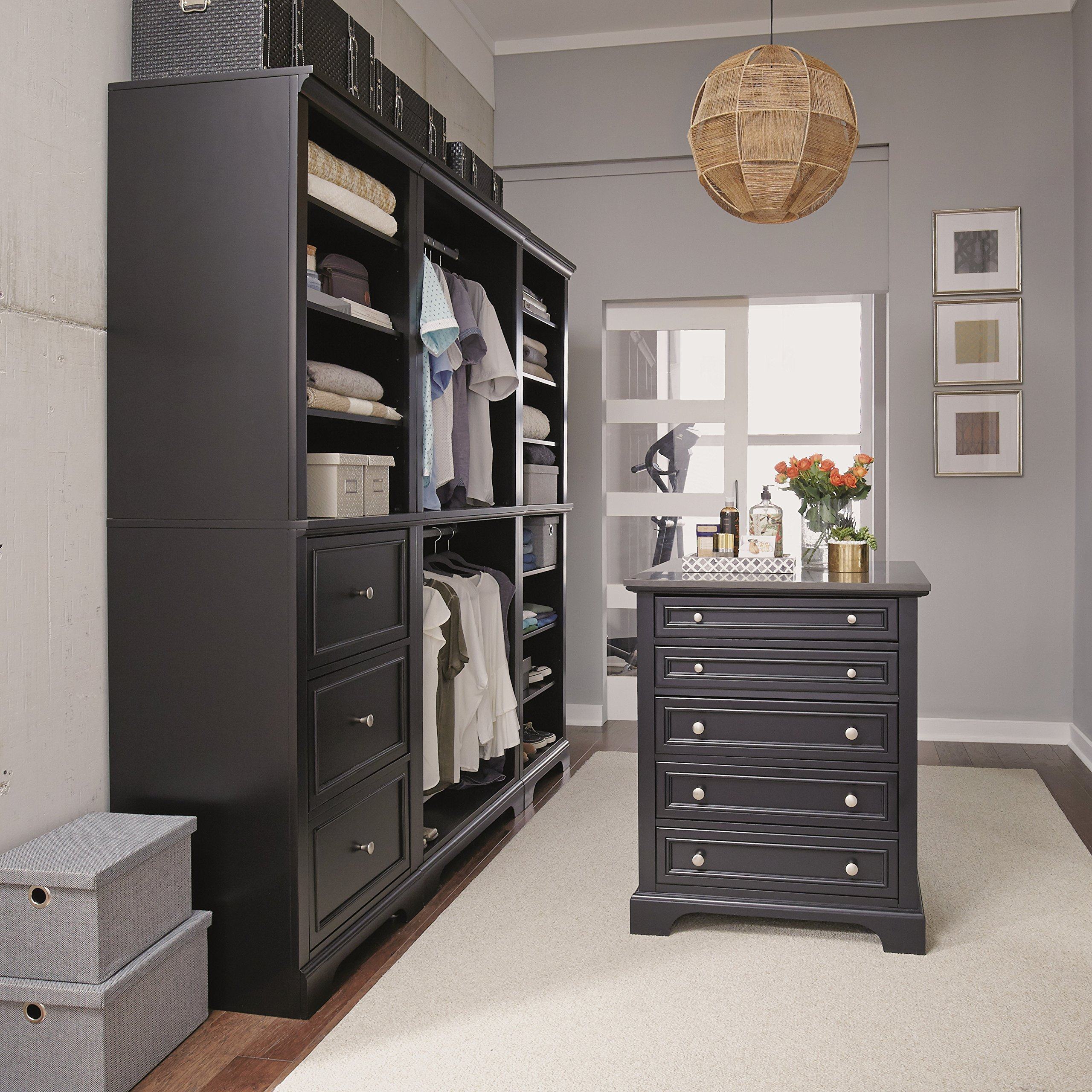 Bedford Black 4 Piece Closet/Storage System Organizer by Home Styles by Home Styles