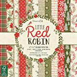 "Dovecraft Christmas 2018 Collection - Little Red Robin Paper Pack 12""x12"" (FSC)"