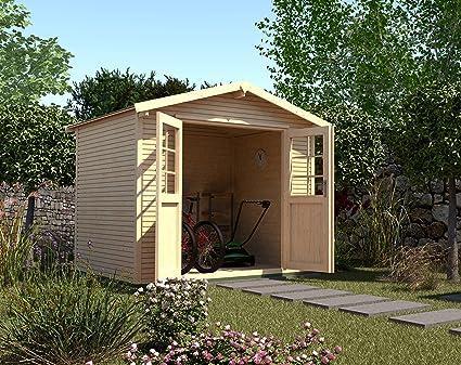 Weka Gartenhaus 218 Gr 2 28 Mm Satteldach Mit Wekaline Natur Dt Amazon De Garten