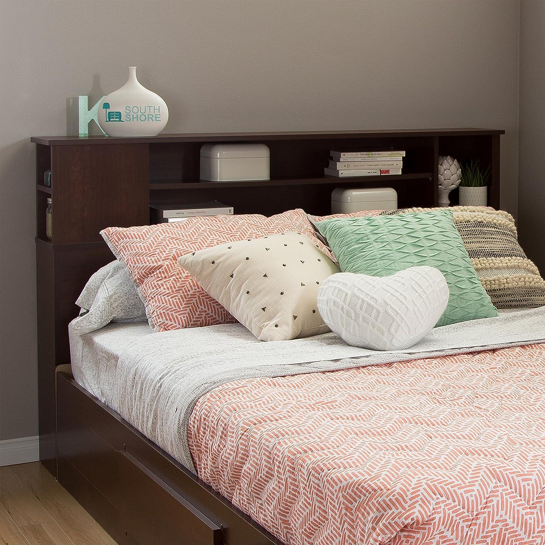 South Shore Furniture Vito Full//Queen Bookcase Headboard Soft Gray 54//60-Feet