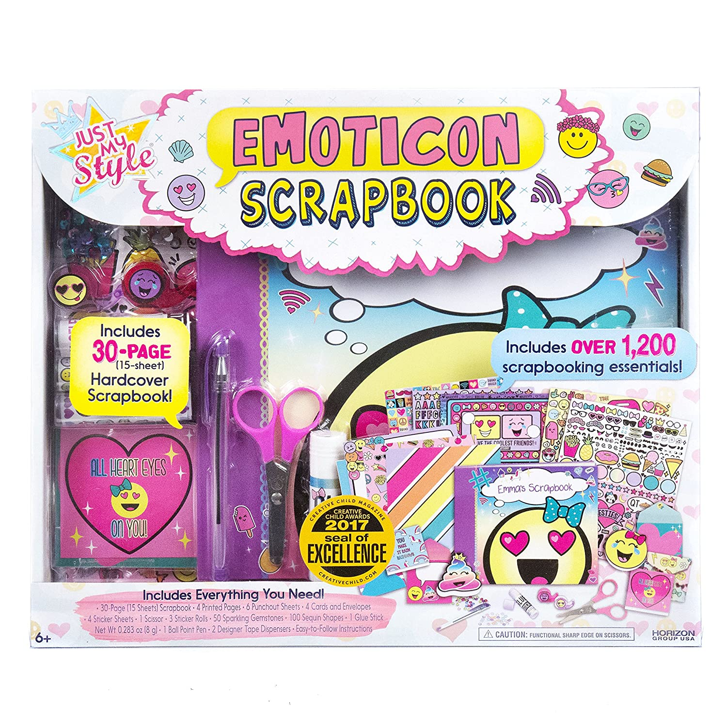 Just My Style Emoticon Scrapbook by Horizon Group USA 765940730232