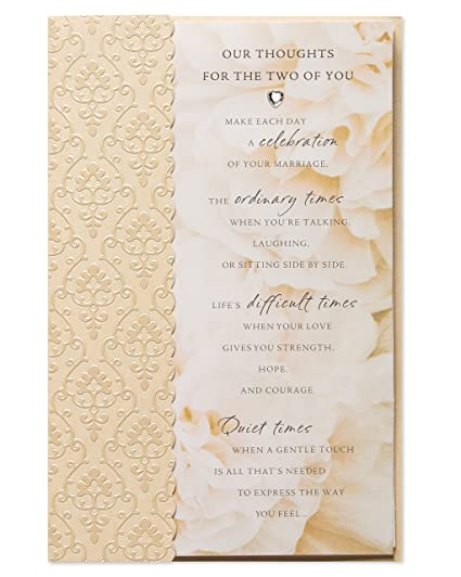 Amazoncom Our Thoughts Wedding Card with Rhinestone Office Products