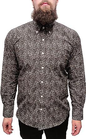 Para hombre Negro Diseño de cachemira de hombre clásico Mod Vintage diseño
