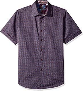 9600a3a0 Robert Graham Mens Westward Short Sleeve Classic Fit Shirt Button Down Shirt