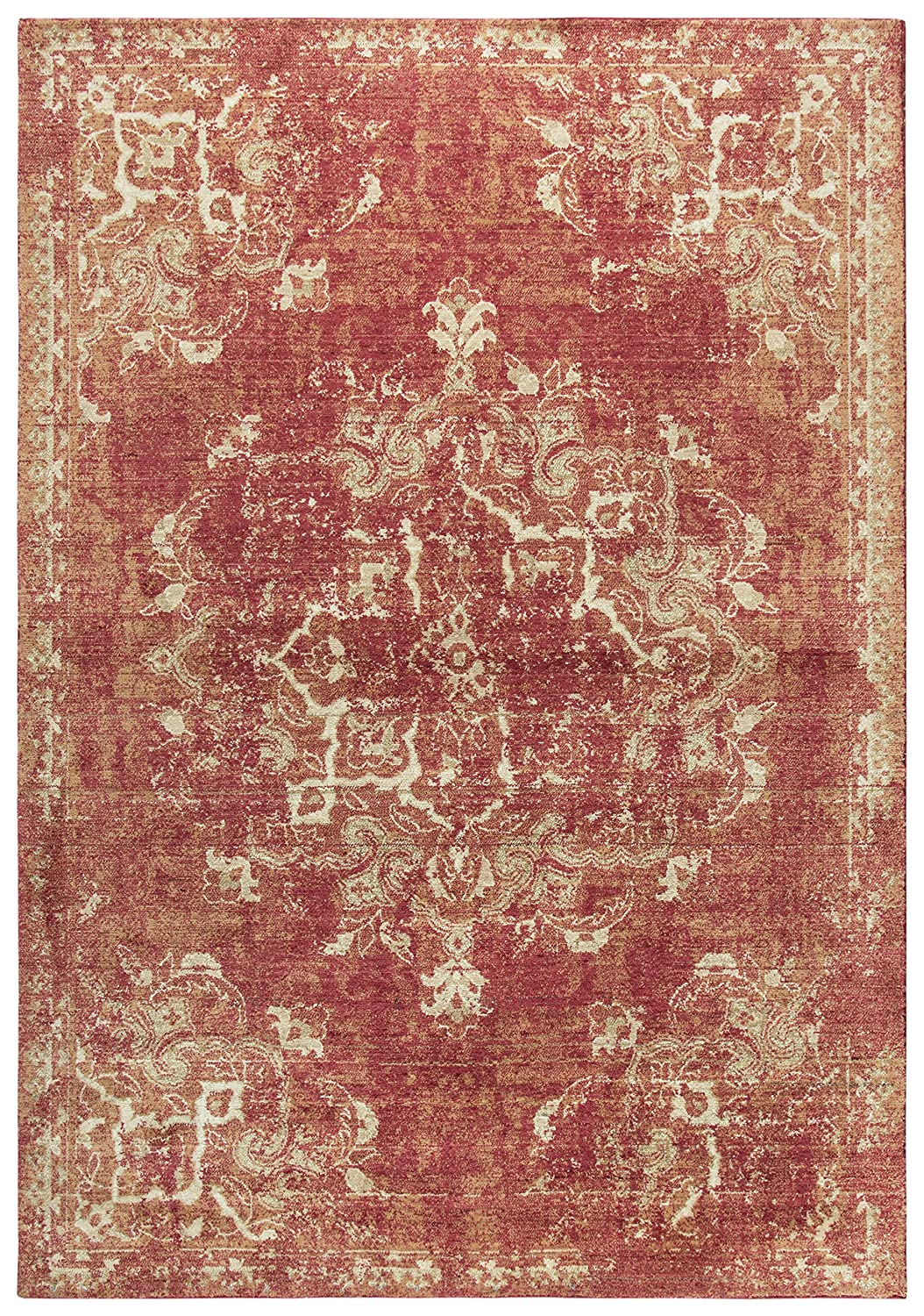 Rizzy Home ES6147 Euphaeidae Power-Loomed Area Rug, Red, 3' x 5'
