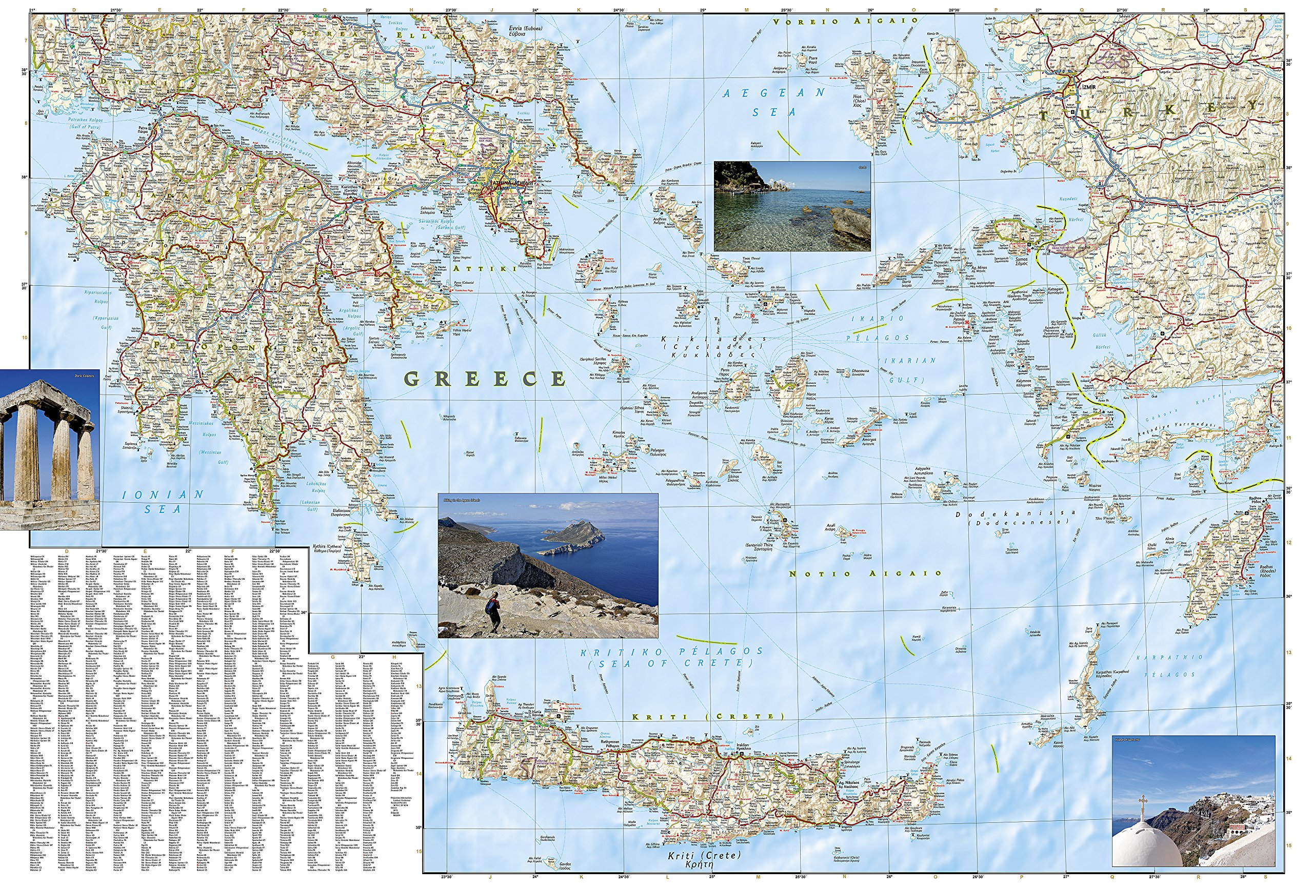 Greece National Geographic Adventure Map National Geographic