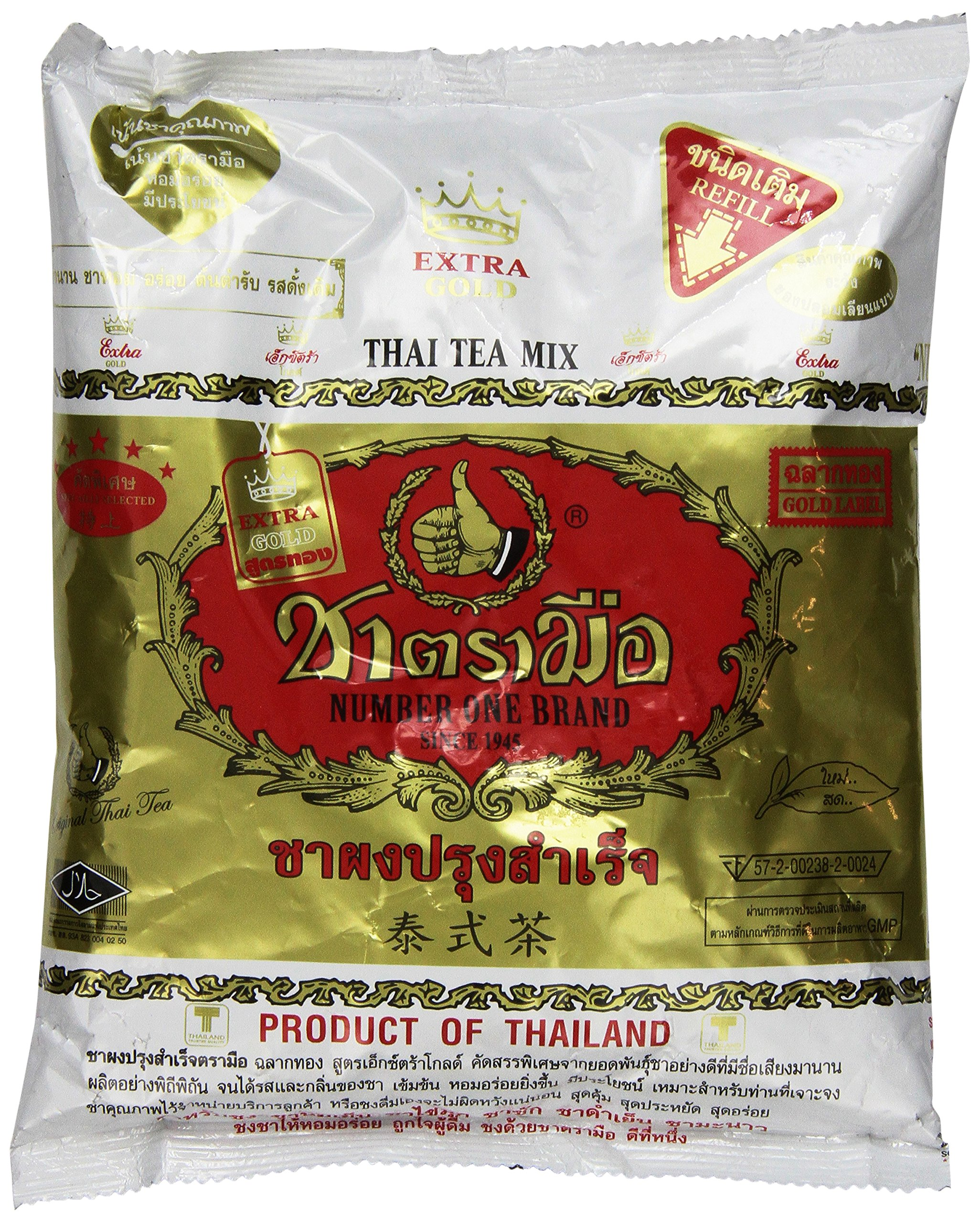 Gold Label the Original Thai Iced Tea Mix ~ Number One Brand Imported From Thailand! 400g Bag Great for Restaurants That Want to Serve Authentic and High Quality Thai Iced Teas