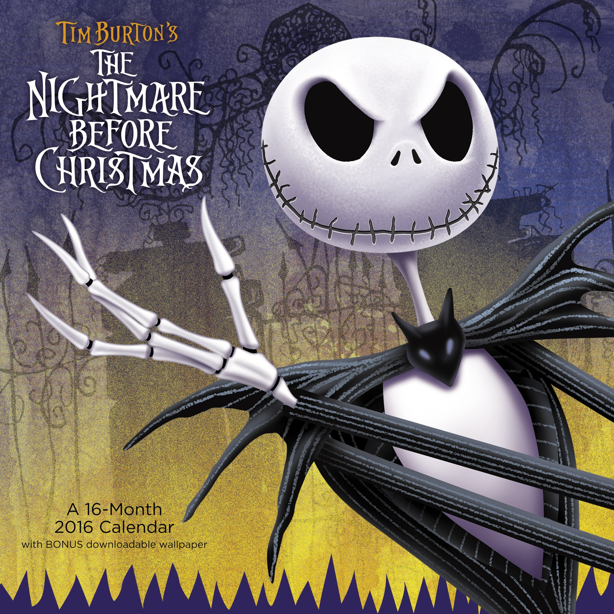 The Nightmare Before Christmas Wall Calendar (2016): Day Dream ...