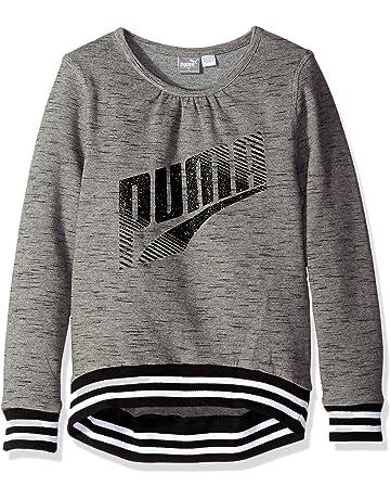 9c54df763bc7 PUMA Girls  Grey Long Sleeve Sweatshirt