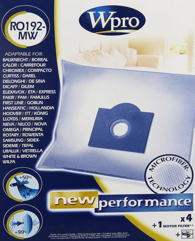 Wpro RO192-MW, 5 mm, 16.5 mm, 23.5 mm - Bolsa de aspiradora ...
