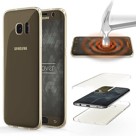 Urcover® Funda Compatible con Samsung Galaxy S6 Edge Plus, Carcasa Protectora 360 Grados Silicona Gel en Transparente Full Body Protección Completa ...