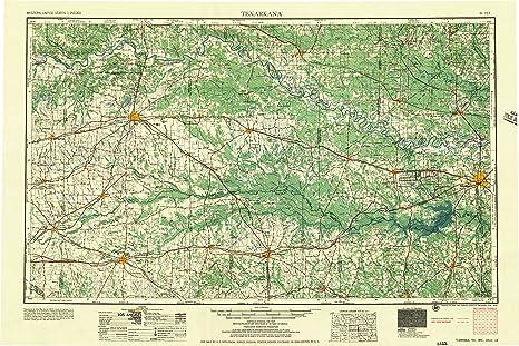 Amazon.com : YellowMaps Texarkana TX topo map, 1:250000 ...