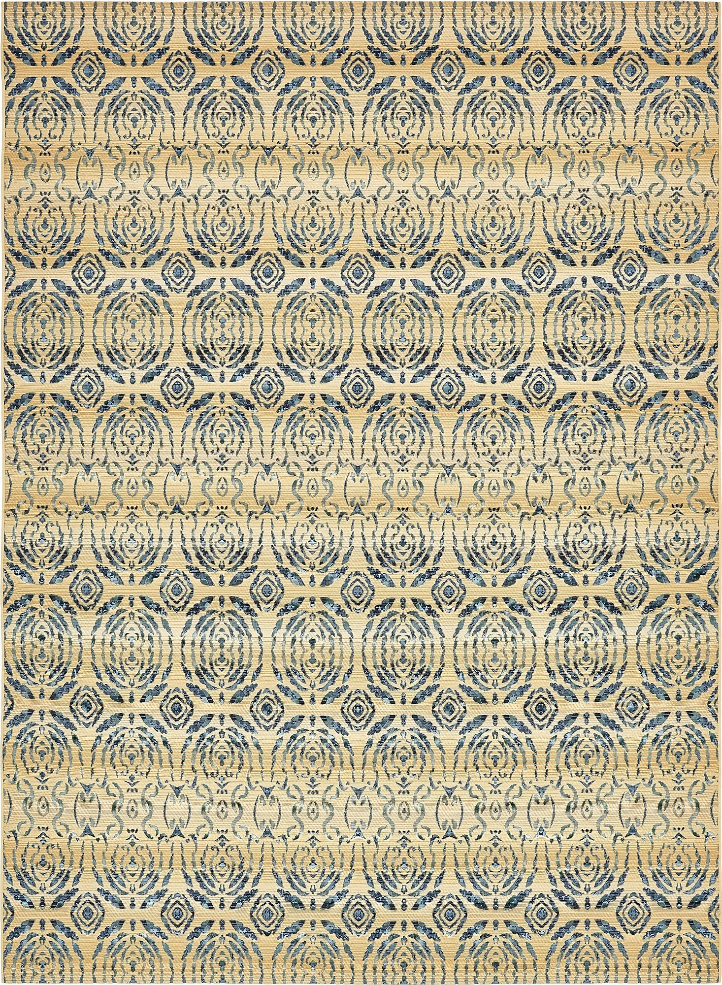 Unique Loom Eden Outdoor Collection Beige 8 x 11 Area Rug (8' x 11' 4'')
