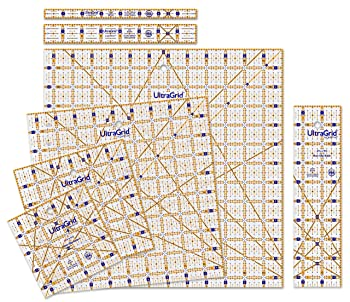 QuiltCut UltraGrid Non-Slip Quilting Rulers