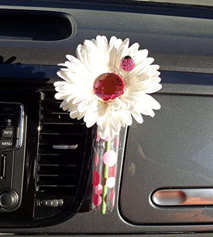 Amazon Vw Beetle Flower White And Pink Bling Daisy With