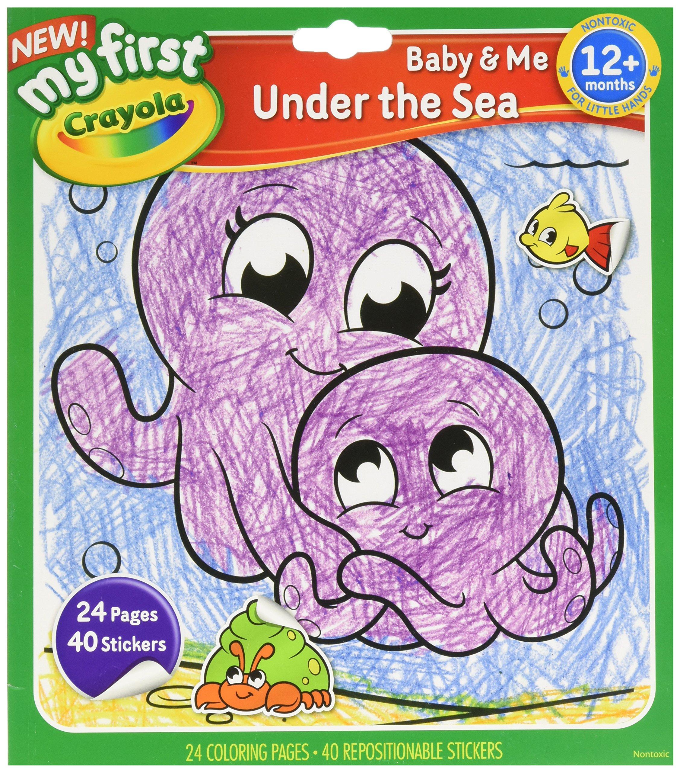 Crayola Under The Sea Color and Sticker Book