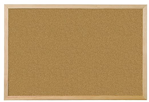 Amazon.com: QCONNECT CORK BOARD WOODEN FRAME 40X60CM ...