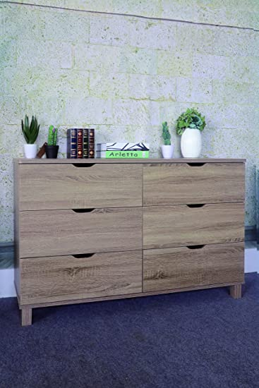 Y1404 Smart Home Dark Taupe Bedroom 6 Drawer Dresser