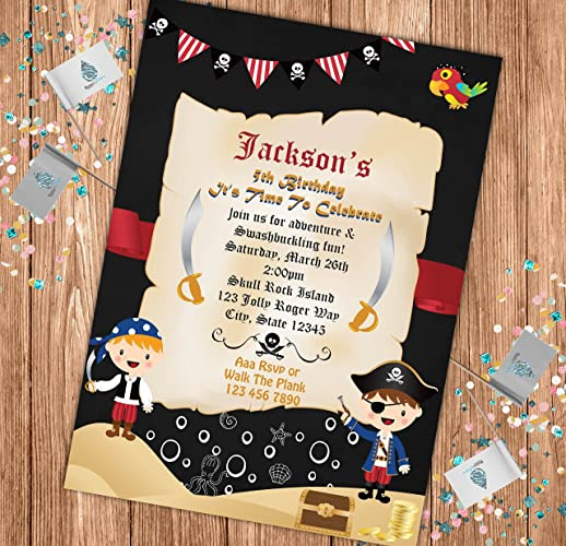 Image Unavailable Not Available For Color Pirate Custom Birthday Invitation