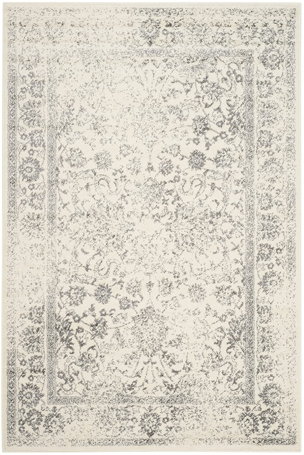 amazoncom safavieh adirondack collection adr109c ivory and silver oriental vintage distressed area rug 8u0027 x 10u0027 kitchen u0026 dining - Safavieh Rug