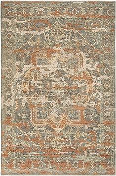 Amazon Com Safavieh Izmir Collection Izm101p Hand Knotted Traditional Premium New Zealand Wool Area Rug 8 X 10 Rust Taupe Furniture Decor