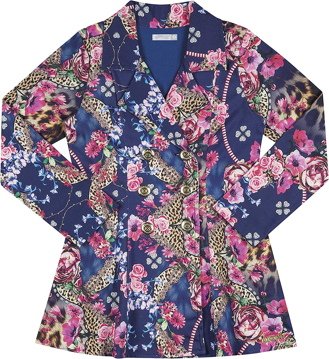 FROM BRAZIL Floral Print Double Breasted Overcoat KIDKLICK FUN FASHION