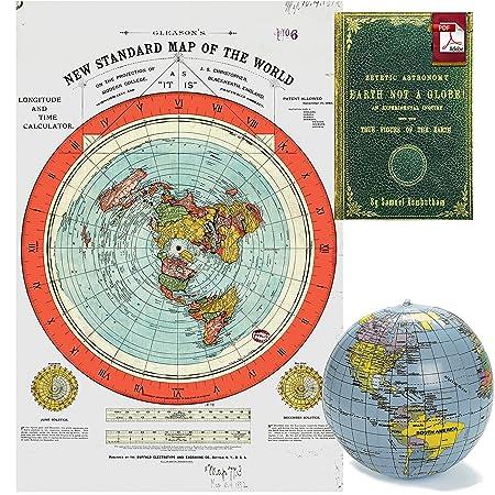 Tierra plana - Kit Gleason de nuevo estándar Póster Mapa del ...