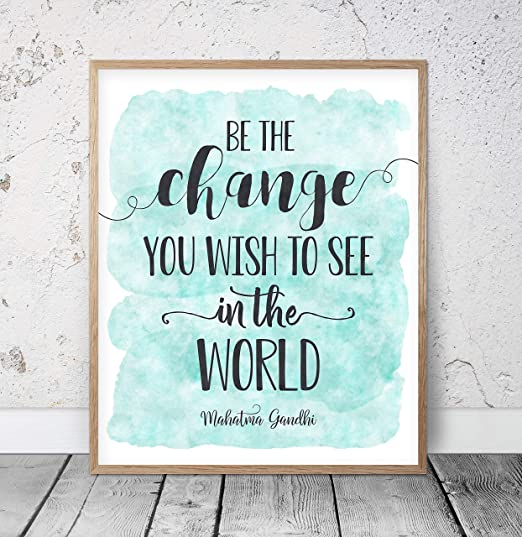 Girls Rule The World Quote Print Watercolour Wall Art
